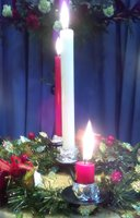 Advent ring candles