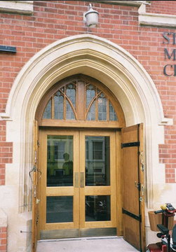 Front entrance to church